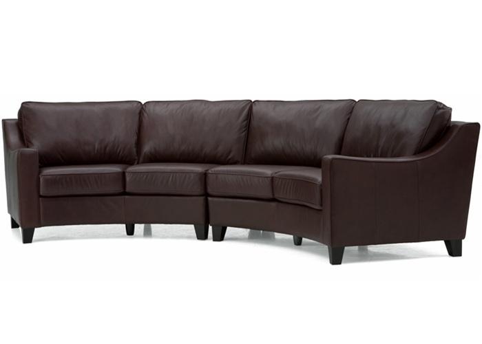 Luna Palliser Curved Leather Sofa Furniture For My