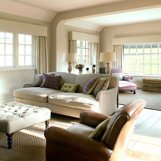 Cream and leather living room for the home pinterest - Living room with cream sofa ...