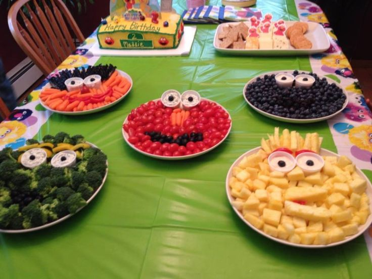 Healthy sesame street finger foods party party party pinterest