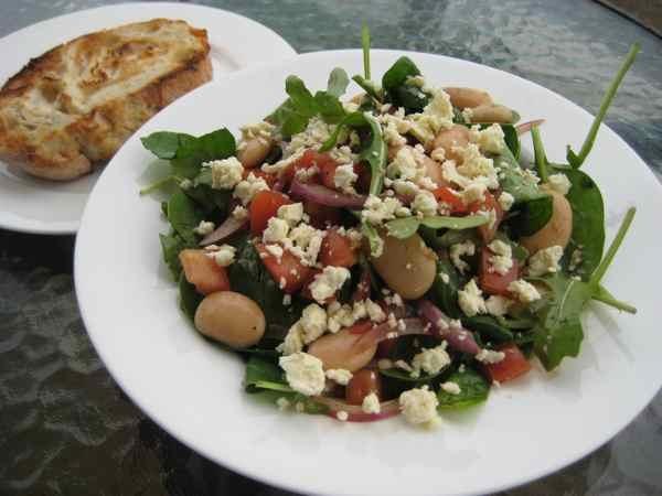 ... Arugula Salad with Butter Beans, Feta, and Honey Balsamic Vinaigrette