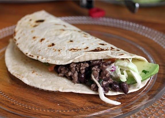 Black Bean Tacos with Feta & Cilantro Slaw