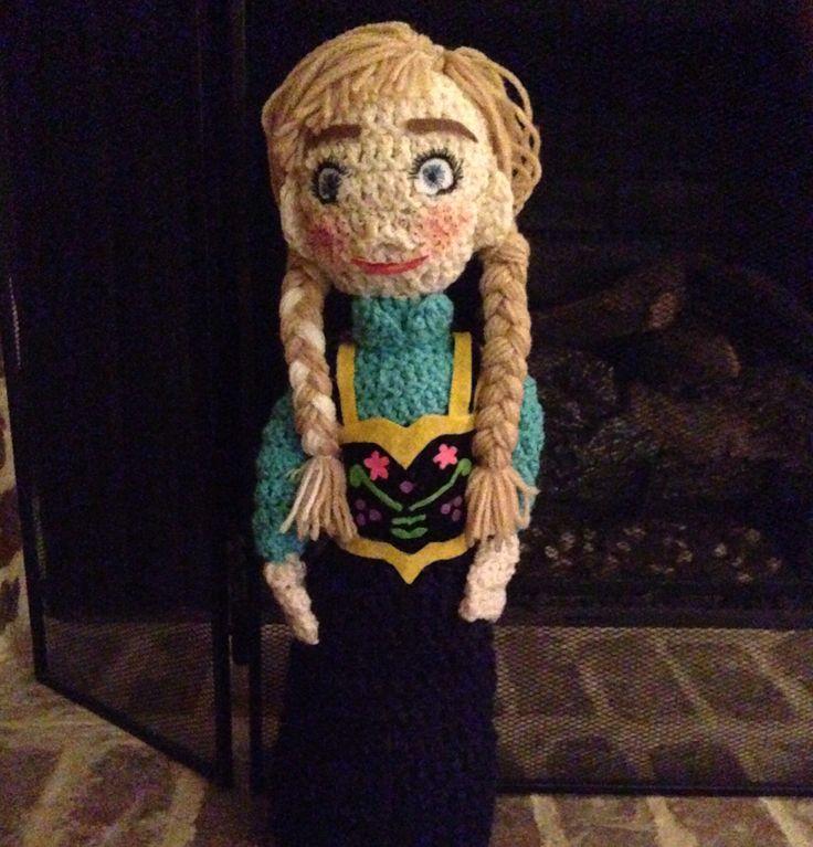 Crochet Frozen Anna Doll : Disney Frozen crochet Anna plush doll Crochet & Crafts ...