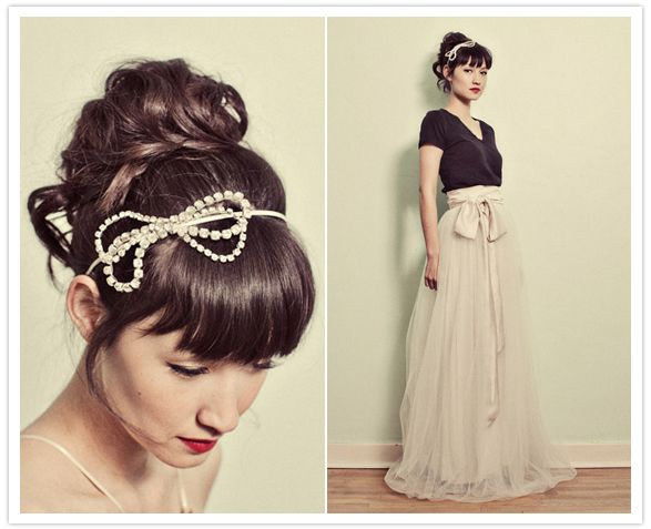 I already have my hair piece...but I'm in love with this bow headband!  So precious.