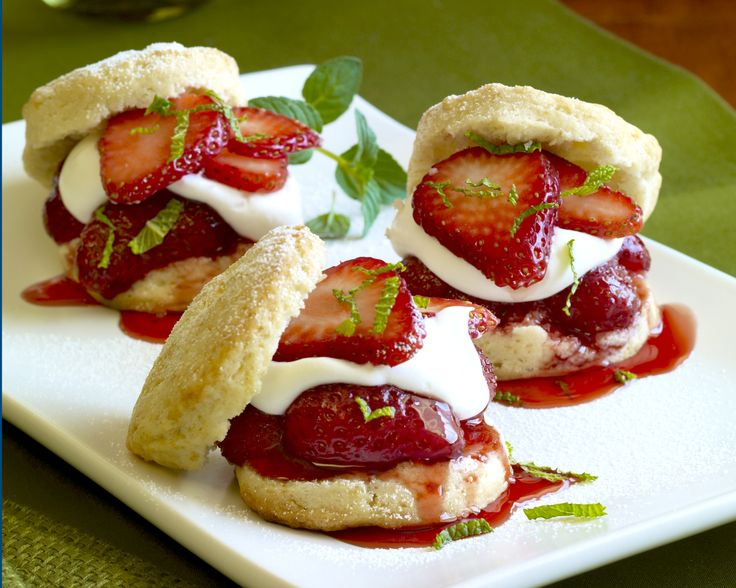 Strawberry Shortcake Sliders recipe via California Strawberries