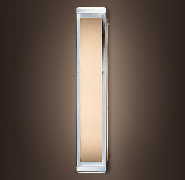 Pierce sconce restoration hardware master bath ideas for Master bathroom sconces