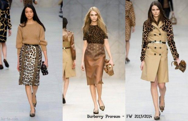 Leopard print clothes for women. Burberry Prorsum - FW 2013/1014