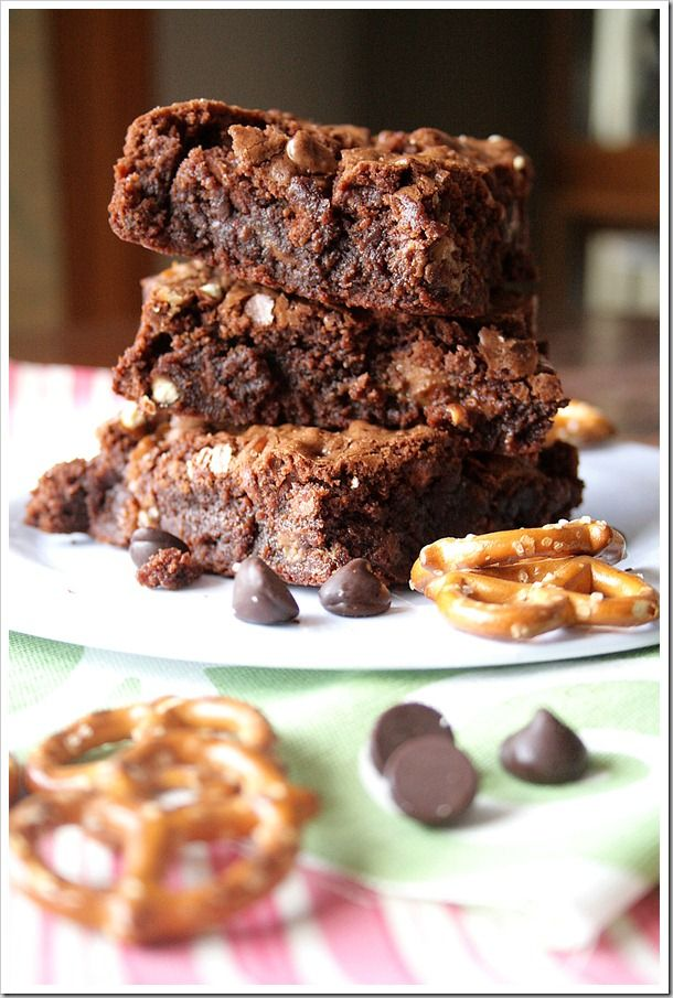 fudgy gluten free brownies chocolate peanut butter pretzel brownies ...