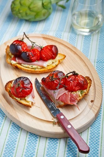Artichoke and Green Olive Tapenade with Asiago, (serve on bruschetta ...