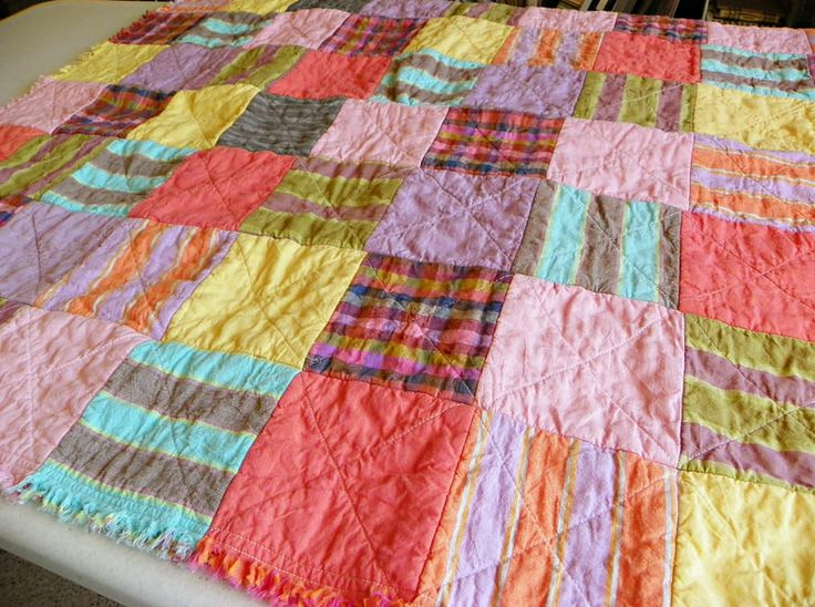 Rag Quilt Patterns For Beginners Free : Free Easy Beginner Quilt Patterns quilt pattern the classic rag quilt the front is smooth