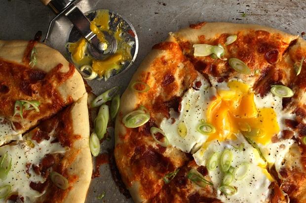 Harissa Pancetta breakfast pizza. | Breakfast | Pinterest