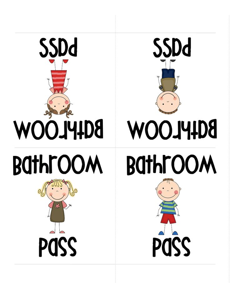 Bathroom Pass Printable Pdf Download Induced Info