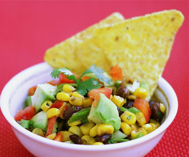 Roasted Corn, Avocado and Black Bean Salsa