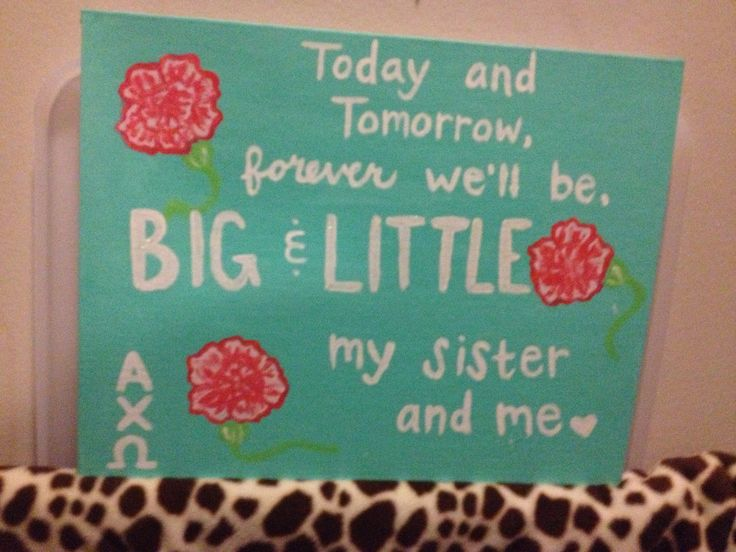 Big little sorority quotes quotesgram for Sorority crafts for little