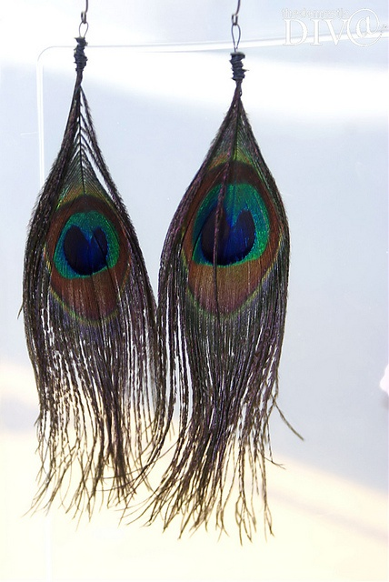 diy feather earrings craft