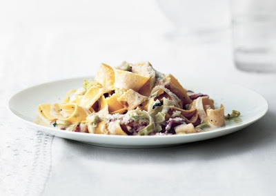 Creamy Pappardelle with Leeks and Bacon | COOKING. | Pinterest