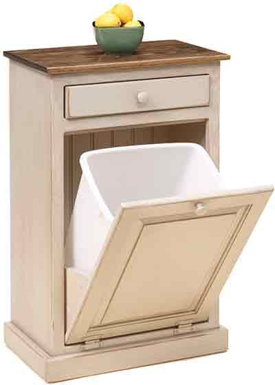 wooden primitive garbage can | front-load-trash-bin-cabinet-with ...