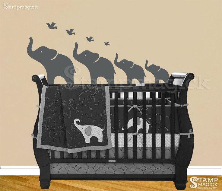 Wall Decals Elephant  Color The Walls Of Your House - Nursery wall decals elephant