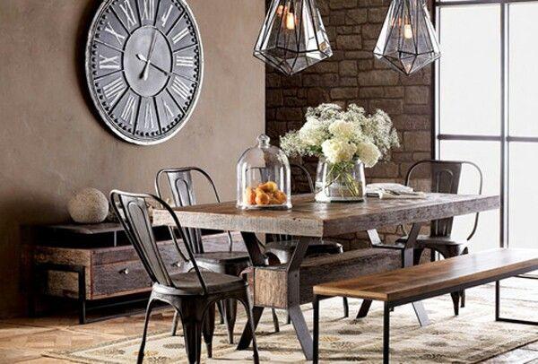 Industrial Chic Dining Room Design Industrial Pinterest