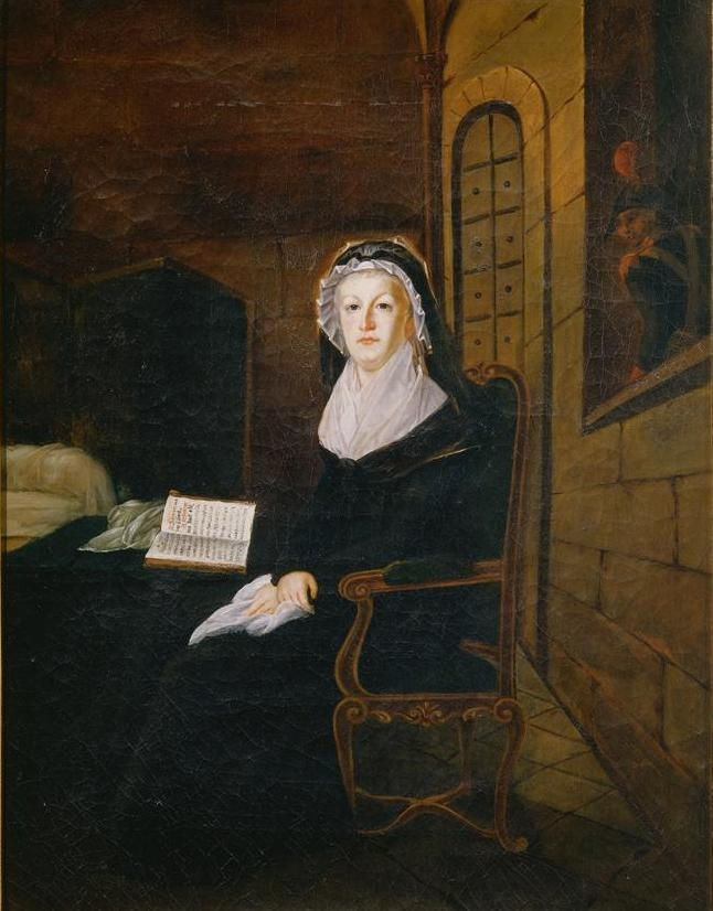 Anonymous (French), Marie Antoinette in the Temple Prison in 1793, painting. Musée Carnavalet.