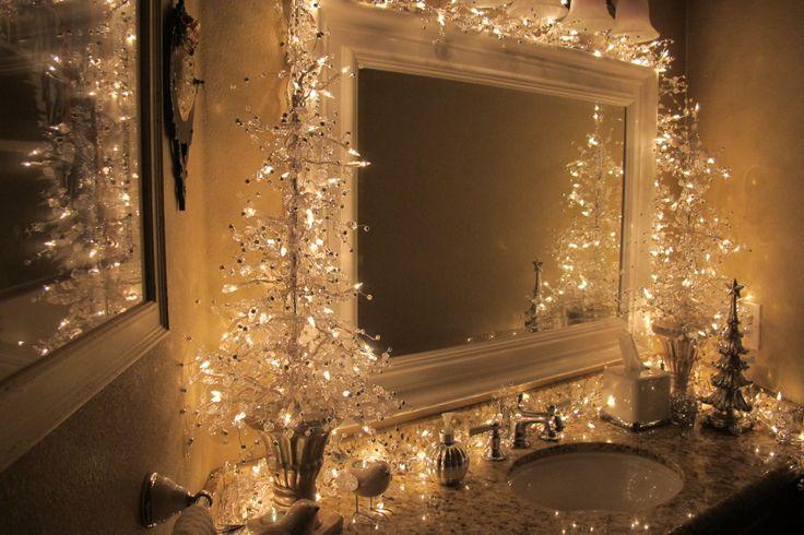Bathroom christmas tree decorations christmas pinterest for Bathroom christmas decorating ideas