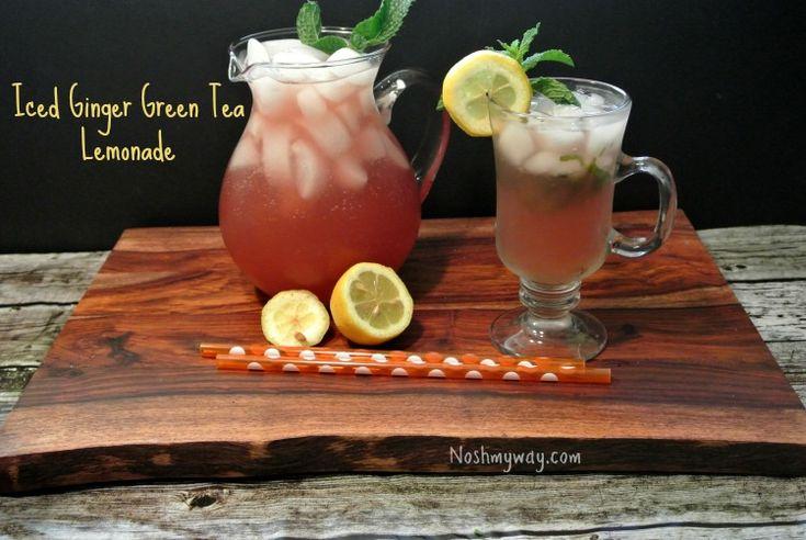 Iced Ginger Green Tea Lemonade Recipe