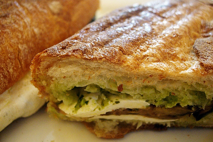 Eggplant and Mozzarella Panini | Recipes | Pinterest