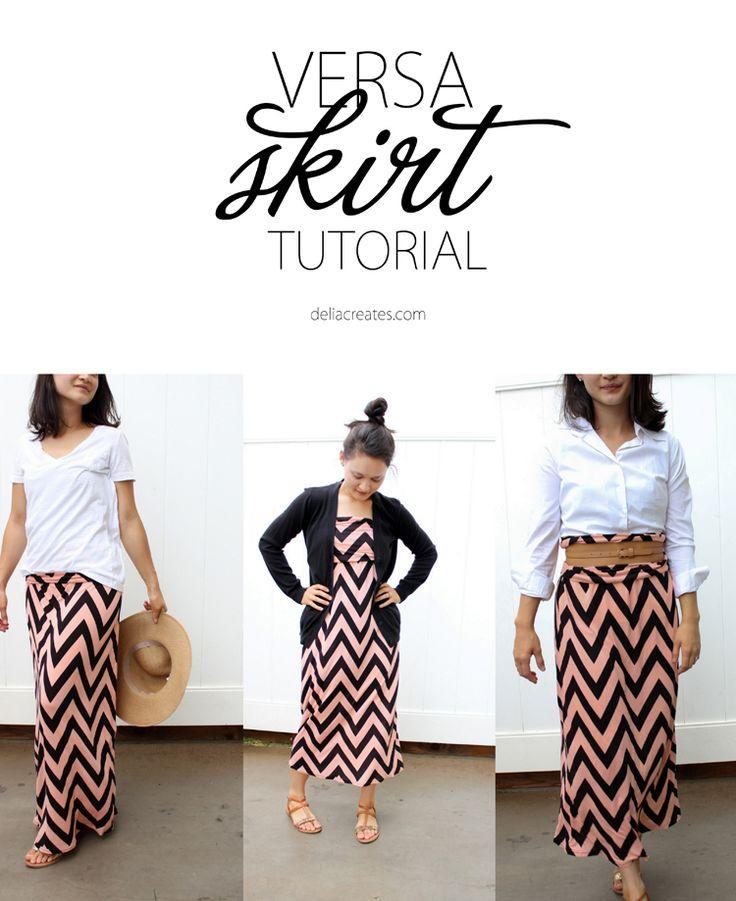 Improved versa skirt. delia creates: Versa Skirt TUTORIAL I'll be making this in a few days. :)