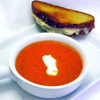 Inspired By eRecipeCards: Spicy Sriracha Tomato and Blue Cheese Soup ...