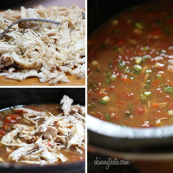 ... recipe - Crock Pot Picante Chicken and Black Bean Soup | Skinnytaste