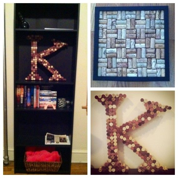 Wine Cork Decor Craft Ideas Pinterest