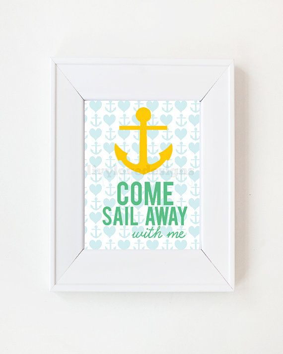 5 x 7 Come Sail away with me by LivyLoveDesigns on Etsy, $10.00