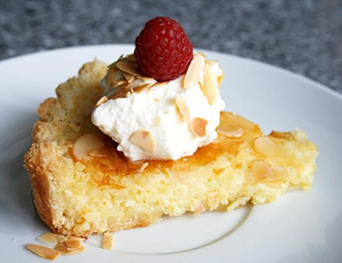 "Italian lemon almond tart. ""Not too sweet with a rich buttery crust."""