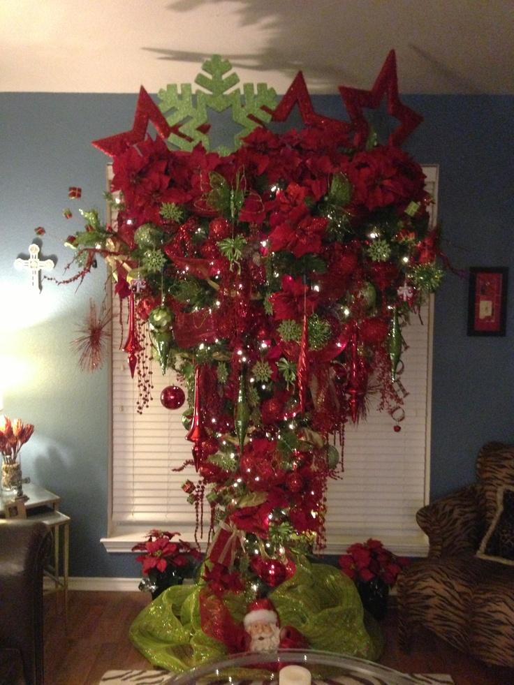 Upside Down Christmas Tree Home Pinterest