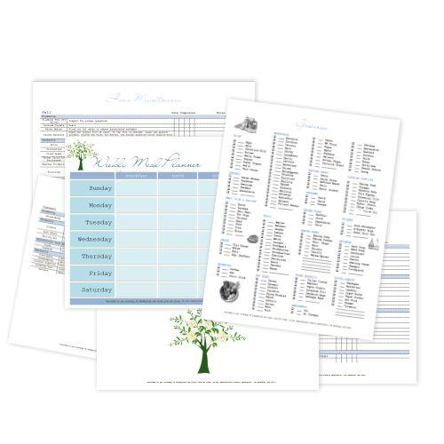 menu planner shopping list template .