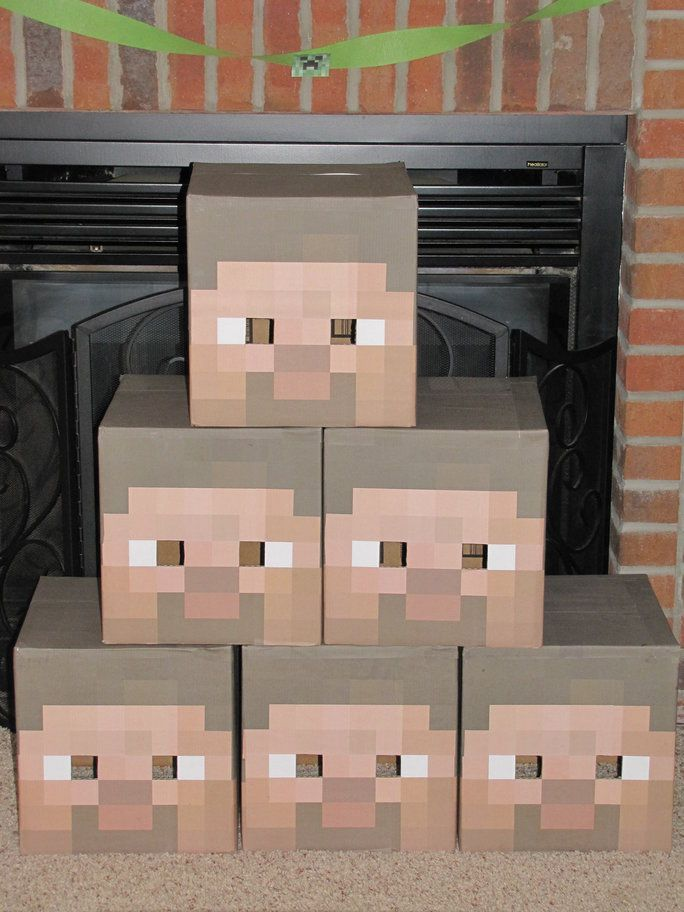 how to make steve head in minecraft
