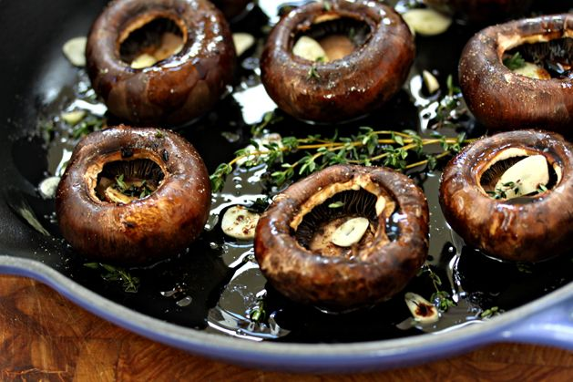 Recipe: Balsamic and Thyme Roasted Portabella Mushrooms