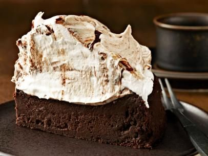 Towering Flourless Chocolate Cake