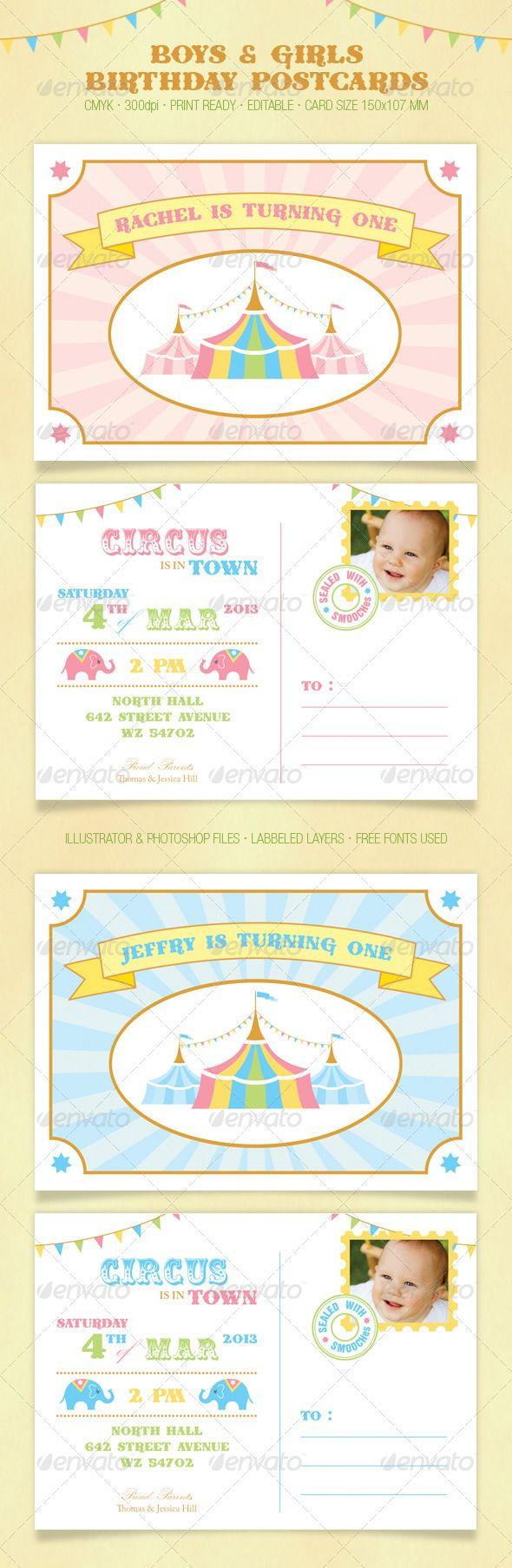 how to create a birthday invitation in photoshop