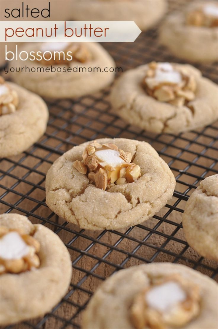 Salted Peanut Butter Blossoms by @Leigh Anne, YourHomebasedMom on ...