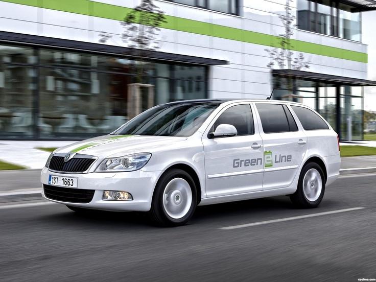 Skoda octavia green e line test car 2012