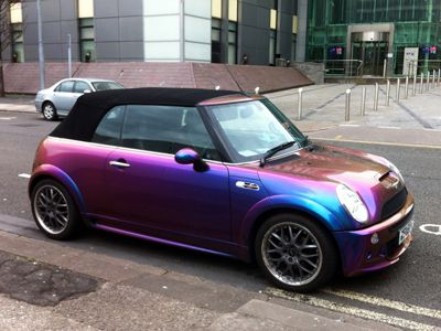 iridescent paint job on mini cooper iridescence pinterest