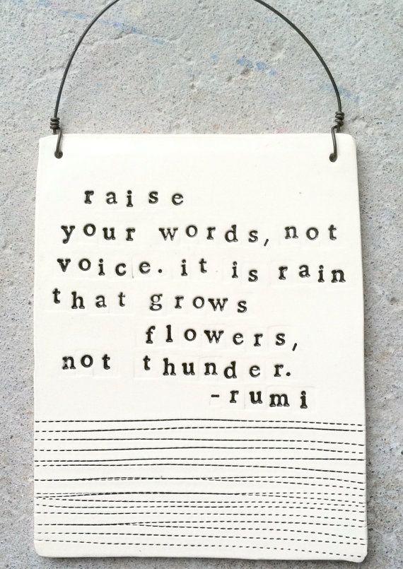 Grow flowers.