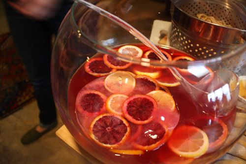 Bourbon & Blood Orange Punch | Chinese New Year Party | Pinterest