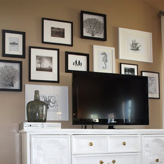 Gallery Wall Behind Tv Decorating Ideas Pinterest