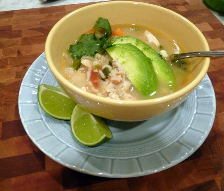 Green Chile & Chicken Soup | Recipes - Soups, Stews | Pinterest