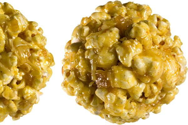 Curry-Coconut Popcorn Balls An Indian-inspired riff on the classic ...