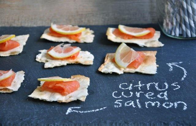 Citrus cured salmon on lavash. | Food Finds | Pinterest