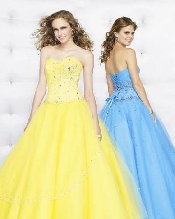 Yellow Cinderella Prom Dresses 71