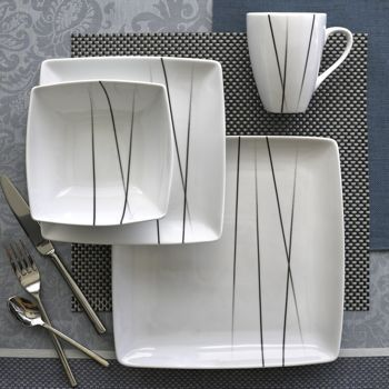 Square Modern Dinnerware Set Home Pinterest
