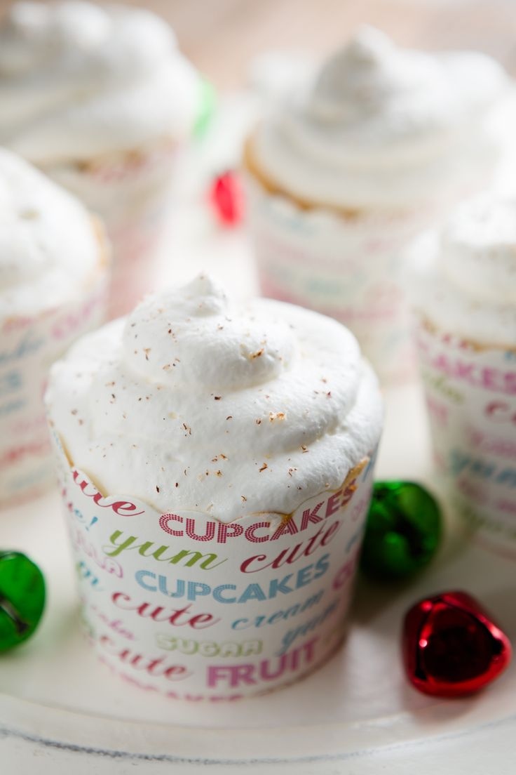 Cappuccino Eggnog Angel Food Cupcakes (from Cupcake Project ...